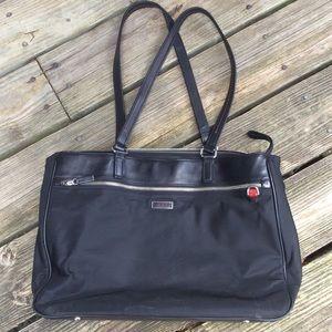 Preloved TUMI Tote. Leather and nylon